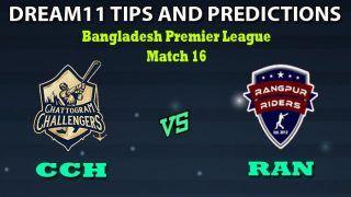 CCH vs RAN Dream11 Team Prediction Big Bash League: Captain And Vice-Captain, Fantasy Cricket Tips Chattogram Challengers vs Rangpur Rangers Match 16 at Zahur Ahmed Chowdhury Stadium, Chattogram 6:00 PM IST