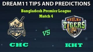 Chattogram Challengers vs Khulna Tigers Dream11 Team Prediction Bangladesh Premier League 2019