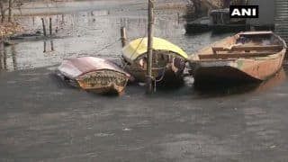 Believe it or Not! Half of Dal Lake Frozen as Srinagar Shivers at -6.2 Degrees | Watch Photos