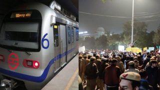 दिल्ली में हिंसक प्रदर्शन: कई घायलों को अस्पताल में भर्ती कराया गया, 15 मेट्रो स्टेशन बंद