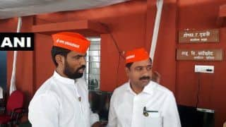 BJP MLAs Arrive For Maharashtra Assembly's Winter Session Wearing 'I Am Savarkar Too' Caps