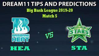 HEA vs STA Dream11 Team Prediction Big Bash League: Captain And Vice-Captain, Fantasy Cricket Tips Brisbane Heat vs Melbourne Stars Match 5 at Carrara Oval, Queensland 1:40 PM IST