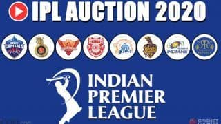 IPL 2020 Auction: Full Players List After New Additions