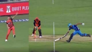 Jhye Richardson 'Bowls' a Throw From the Boundary Line to Get Batsman Out in BBL Match | SEE VIDEO
