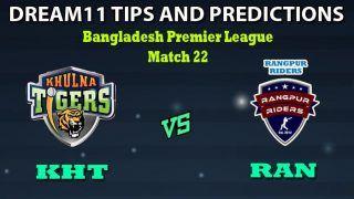 KHT vs RAN Dream11 Team Prediction Bangladesh Premier League: Captain And Vice-Captain, Fantasy Cricket Tips Khulna Tigers vs Rangpur Rangers Match 22 at Shere Bangla National Stadium, Dhaka 6:30 PM IST