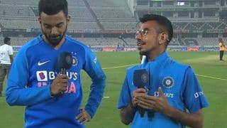 Ind vs wi hyderabad t20i kl rahul reponds to the question of runs difference with yuzvendra chahal