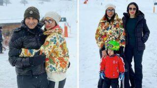 Kareena Kapoor Khan, Saif Ali Khan, Taimur Ali Khan, Karisma Kapoor Kick-Start Their New Year Celebrations in Switzerland - See Pics