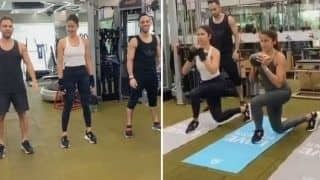 Katrina Kaif Sweats it Out in Gym Along With Her Trainers And it Will Give You Major Fitness Goals - Watch