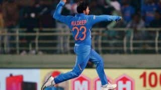Indvwi 3rd odi kuldeep yadav one wicket away from taking 100 odi wickets 3885243