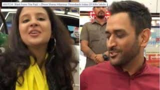 MS Dhoni Shares Throwback Video of Wife Sakshi Dhoni on Instagram, Pokes Fun on Latter's Poor Dialogue Delivery During Ad Shoot | WATCH