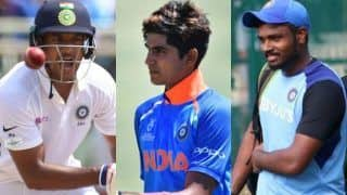 Ind vs wi shikhar dhawans injury could open doors for sanju samson mayank agarwal shubman gill in the odi