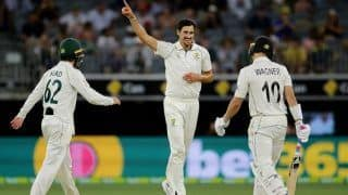 AUS vs NZ Day-Night Test Report: Mitchell Starc, Nathan Lyon Star as Australia Thrash New Zealand by 296 runs to Take 1-0 Lead