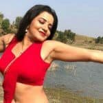 Bhojpuri Sizzler Monalisa Looks Red Hot as She Flaunts Her Perfect Curves in Sexy Saree Look