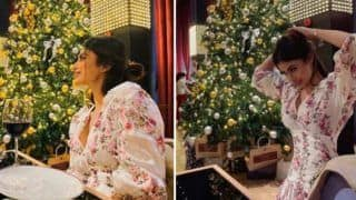 Mouni Roy Spends Her Christmas Sipping Wine as She Enjoys Her Evening at Restaurant