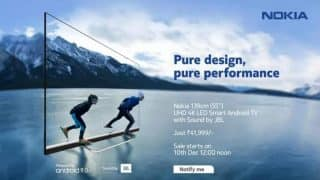 Nokia Smart TV with 55-inch 4K panel launched in India: Price, features, sale date and offers