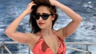 Nushrat Bharucha is Setting The Mercury to Rise in Sexy Monokini as She Takes Boat Ride in Maldives