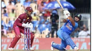 Indvwi 1st odi twitter hails rishabh pant innings against west indies in chennai odi 3878878