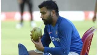 Indvwi 3rd odi rohit sharma 9 runs away of breaking sanath jayasuriyas 22 year old record 3884922