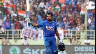 INDvWI: 'हिटमैन' रोहित शर्मा ने 28वां वनडे शतक जड़ लगाई रिकॉर्डों की झड़ी, वॉर्नर-जयसूर्या की बराबरी की