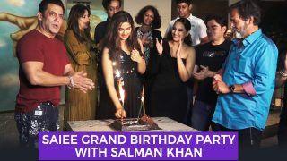 Saiee Manjrekar Celebrates Birthday With Dabangg 3 co-stars And Paps