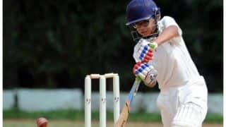 Under 14 inter zonal cricket tournament rahul dravids son samit dravid hits double century 3884854