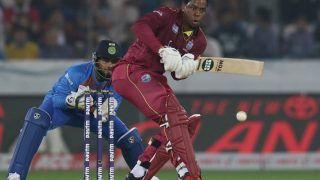 Hyderabad T20I: हेटमायर-लइस की आतिशी पारियों से भारत के सामने 208 का लक्ष्य