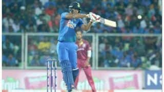 India vs west indies thiruvananthapuram t20 shivam dube hits maiden half century west indies restricts india to 170 7