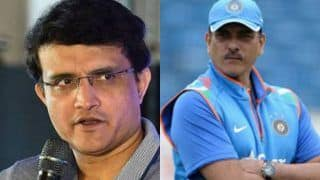 Ravi shastri conntects his rift with sourav ganguly with chat and bhelpuri 3875115