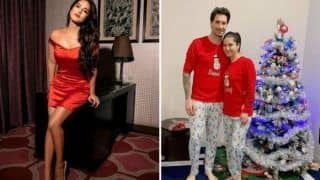 Sunny Leone Turns Into 'Naughty Elf' This Christmas, Shares Sizzling Hot Picture in Sexy Satin Red Dress