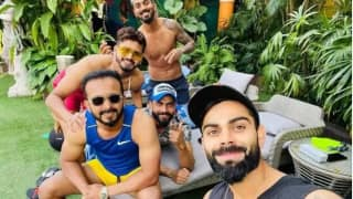 Ind vs wi virat kohli enjoys rare day off with teammates ahead of 3rd odi 3884423