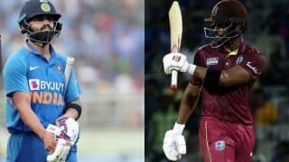 Indvwi shai hope surpasses virat kohli becomes second leading run scorer in odis in 2019 3882395