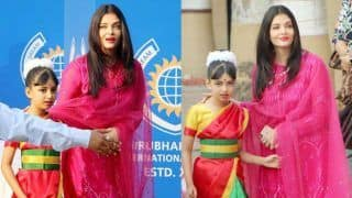 Aishwarya Rai Bachchan's Daughter Aaradhya Bachchan Looks Pretty in Saree as She Performs in Annual Day- See Pics, Videos