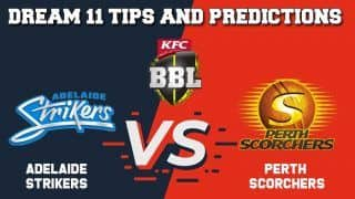 Dream11 Team Prediction Adelaide Strikers vs Perth Scorchers: Captain And Vice Captain For Today BIG BASH LEAGUE BBL 2019-20 Match 10 STR vs SCO at Adelaide Oval in Adelaide 1:40 PM IST December 23