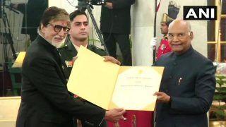 Amitabh Bachchan Receives Dadasaheb Phalke Award From President Ram Nath Kovind