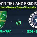 Australia A Women vs India A Women Dream11 Team Prediction India A Women Tour of Australia: Captain And Vice-Captain, Fantasy Cricket Tips AU-A-W vs IN-A-W Match 1 at Allan Border Field, Brisbane 5:30 AM IST