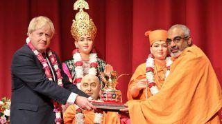 बोरिस जॉनसन को हिंदू वोटों का सहारा! मंदिर जाकर बोले- UK में भारत विरोधी भावना के लिए कोई जगह नहीं