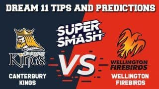 Dream11 Team Prediction Canterbury Kings vs Wellington Firebirds: Captain And Vice Captain For Today Dream11 Super Smash 2019-20 CTB vs WEL at Hagley Oval 11:45  AM IST December 15