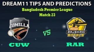 CUW vs RAR Dream11 Team Prediction Bangladesh Premier League 2019-20