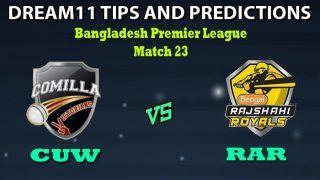 CUW vs RAR Dream11 Team Prediction Bangladesh Premier League 2019-20: Captain And Vice-Captain, Fantasy Cricket Tips Cumilla Warriors vs Rajshahi Royals 2nd Test at Shere Bangla National Stadium, Dhaka 1:00 PM IST