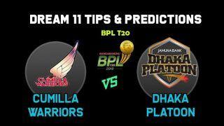 Dream11 Team Prediction Cumilla Warriors vs Dhaka Platoon: Captain And Vice Captain For Today BPL T20 BPL 2019-20 Match 17 CUW vs DHP at Sharjah Cricket Stadium 1:30 PM IST December 23