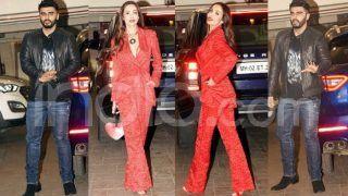 Malaika Arora Looks Like a Sexy Santa as She Attends Kareena Kapoor's Christmas Party With Arjun Kapoor