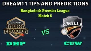 DHP vs CUW Dream11 Team Prediction Qatar T10 League: Captain And Vice-Captain, Fantasy Cricket Tips Dhaka Platoon vs Cumilla Warriors Match 6 at Shere Bangla National Stadium, Dhaka 6:30 PM IST