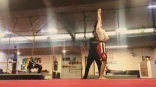 Disha Patani Practices Back Handspring And Video Will Give You Motivation to Hit Gym in Winters