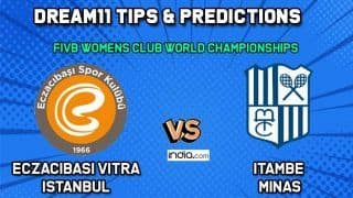 Dream11 Team Prediction Eczacibasi Vitra Istanbul vs Itambe Minas: Captain And Vice Captain For Today FIVB Women's Club World Championships Between EVI vs ITM at  Shaoxing in China 2:30 PM IST December 4