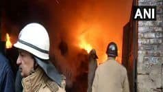 Delhi: Massive Blaze at Godown in Mundka, 21 Fire Tenders at Spot; no Casualties so Far