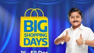 Flipkart Big Shopping Days Sale Live: पांच दिनों तक इन प्रॉडक्ट्स को जबरदस्त डिस्काउंट पर खरीदने का मौका