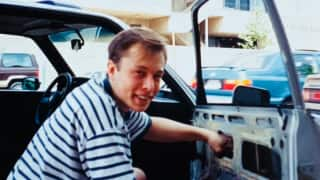 Elon Musk's Mother Shares An Old Photo Of Him Repairing A Car Window, Read Caption