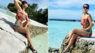 Hina Khan Poses in Red Floral Ensemble at Maldives' Beach Proves The Actor is in Love With This Place
