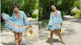 Hina Khan Grabs Eyeballs With Her Boho Chic Avatar in Maldives