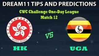 Hong Kong vs Uganda Dream11 Team Prediction CWC Challenge One-Day League